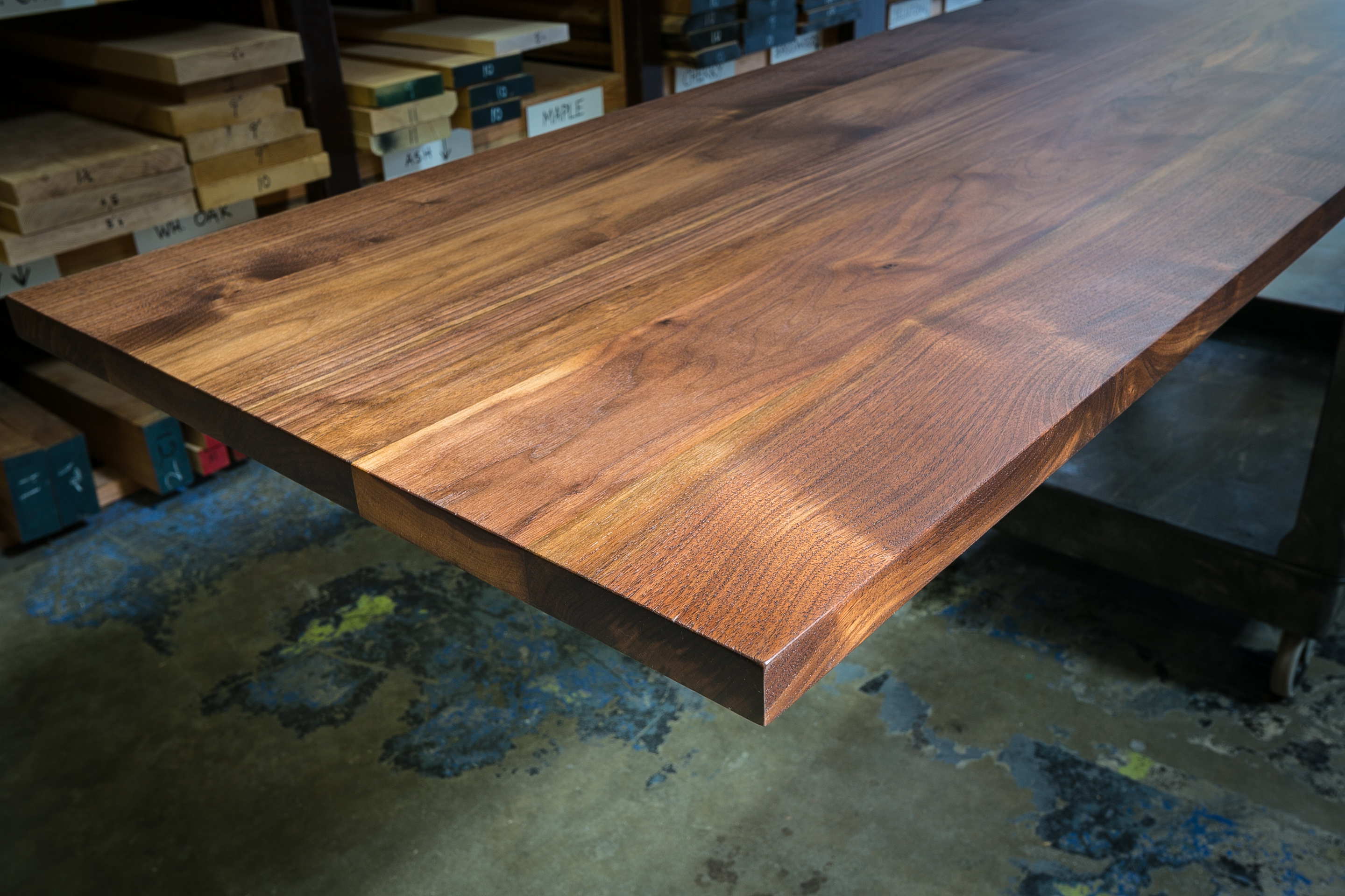 Custom hardwood tabletops
